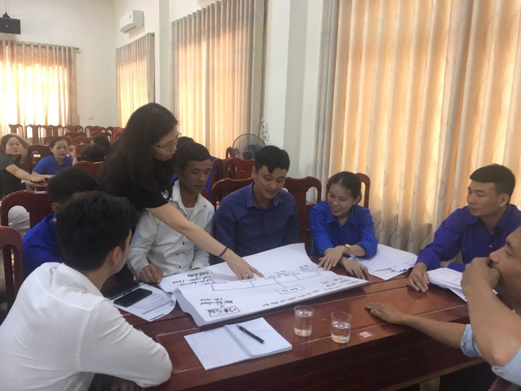 Participants discussed solving tasks