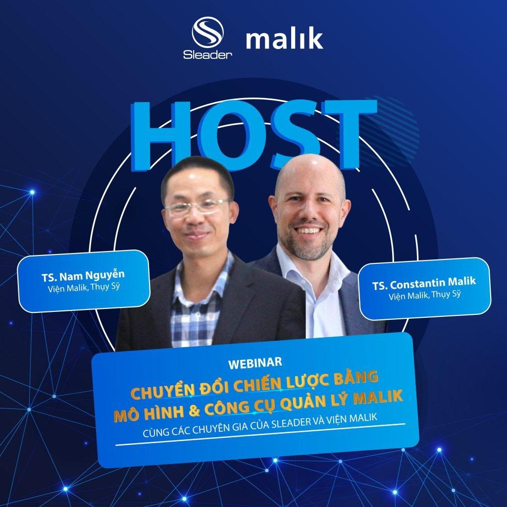 TS. Constantin Malik và TS. Nam Nguyễn - Diễn giả webinar về Chuyển đổi chiến lược bằng mô hình và công cụ quản lý Malik