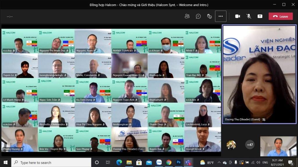 Xây dựng chiến lược phát triển Tập đoàn Halcom - Đồng hợp Malik trực tuyến lần đầu tiên tại Việt Nam